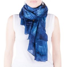 Navy silk scarf /  magnificent navy blue shawl   by CeliaEtcetera
