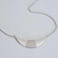 Melanie Auld Silver Crescent Necklace