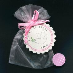 Personalized Girls Baptism Favor Christening Favor by susiedees