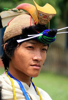 Nishi Tribal man Arunachal Pradesh