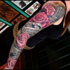 Music and rose sleeve by joe_carpenter (IG)
