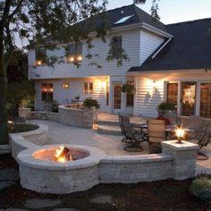 #backyards #outdoorlighting #outdoordecor
