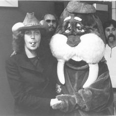 Tim with the WLRS Walrus in Louisville during his Fearless tour. The photo was added to Facebook by the guy inside the Walrus suit.