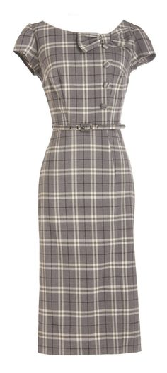 Gorgeous plaid wiggle dress - love the neckline, will go with lots of things Retro Mode, Vintage Mode, Vintage Style, Mod Dress, Dress Up, Plaid Dress, Retro Dress, Vintage Pencil Dress, Dress Clothes