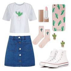 """Can't Touch This"" by abbyb1003 on Polyvore featuring Miss Selfridge, Topshop, Converse, Forever 21, WithChic, Marc Jacobs, Kate Spade, Summer, Cactus and CantTouchThis"