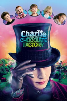 Directed by Tim Burton. With Johnny Depp, Freddie Highmore, David Kelly, Helena Bonham Carter. A young boy wins a tour through the most magnificent chocolate factory in the world, led by the world's most unusual candy maker. Roald Dahl, Movies To Watch Free, Great Movies, Popular Movies, Johnny Depp Willy Wonka, Charlie Chocolate Factory, Man And Dog, Forrest Gump, Tim Burton
