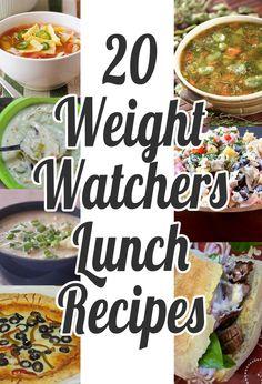 20 Weight Watchers Lunch Recipes Weight Watchers Lunches, Weight Watchers Tips, Weigh Watchers, Weight Watcher Dinners, Ww Recipes, Low Calorie Recipes, Light Recipes, Lunch Recipes, Cooking Recipes