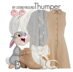 """""""Thumper"""" by leslieakay ❤ liked on Polyvore featuring Swarovski, Charlotte Russe, Thumper, Vivienne Westwood Anglomania, Oasis, Vince Camuto, Witchery, disney, disneybound and disneycharacter"""