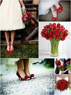 #Inspiração: Noivas de sapatos vermelhos