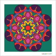 I'm crazy about coloring! #colorfy #mandala