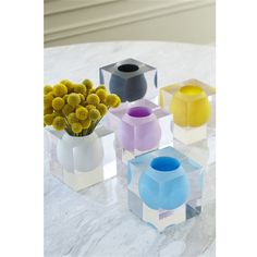 Jonathan Adler Bel Air Mini Scoop Vases