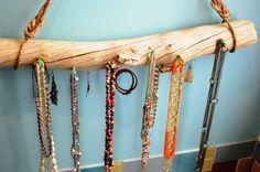 DIY - Drift Wood Jewelry Hanger...easy peasy!