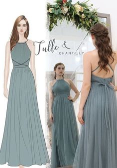 You can design your own bridesmaid dresses in tulle and chantilly  #wedding #weddinginspiration #bridesmaids #bridesmaiddresses #bridalparty #maidofhonor #weddingideas #weddingcolors #tulleandchantilly