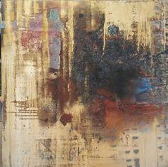 Metallic Landscape Mixed media on canvas  David Joyce Studio Milwaukee, Wisconsin