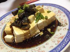 Tofu con huevos milenarios @Restaurant chino clandestino, Lisboa, Portugal