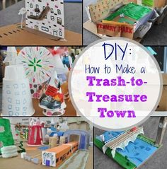 Let your child reuse everyday objects to create a trash-to-treasure town. Click for more.