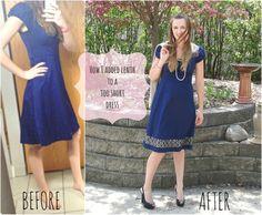 adding length to a dress | Adding length to a dress