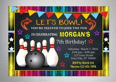 bowling party invitations free