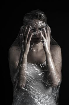 Tension ©ShannonGeorgiaPhotography clingfilm claustrophobia fetishism isolated studio photography Photographer