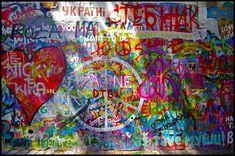 Street Art in Prague--the John Lennon Wall