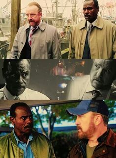 """Bobby Singer and Rufus ~ Supernatural. It always saddens me that Rufus's last words were, """"I'm never gonna forgive you, Bobby. So change the subject."""" And of course in the twisted way Bobby had to be the one who plunges the knife into his friend's chest. Supernatural Bobby, Sam E Dean Winchester, Bobby Singer, Grumpy Old Men, Army Men, Me Tv, Best Series, Castiel, Superwholock"""