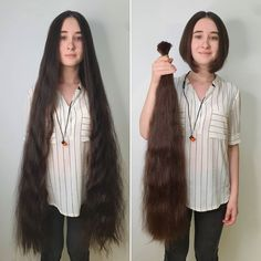 Hair Girls, Super Long Hair, Beautiful Long Hair, Girl Hairstyles, Tie Dye, Fur Coat, Hair Cuts, Hair Beauty, Long Hair Styles