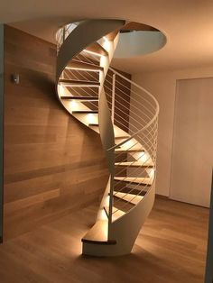 Trendy round stairs metal spiral staircases 32 ideas The Effective Pictures We Offer You About Stairs architecture A quality picture can tell you many things. Open Basement Stairs, Curved Staircase, Spiral Staircases, Basement Ideas, Spiral Stairs Design, Staircase Design, Staircase Ideas, Stair Builder, Round Stairs