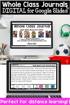 Build classroom community digitally with these whole class journals! This Google Slides resource allows students to enjoy a shared writing experience whether you're face to face, a hybrid model, or distance learning. Back To School Organization, Back To School Hacks, Back To School Activities, Teacher Organization, Teacher Hacks, School Ideas, Writing Curriculum, Writing Lessons, Writing Activities