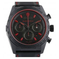 Tudor Black Fastrider Black Shield 42000CR-BKRS Mens Watch