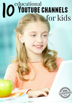 Great ideas for educational YouTube channels for kids!  #ad #LifeonFios