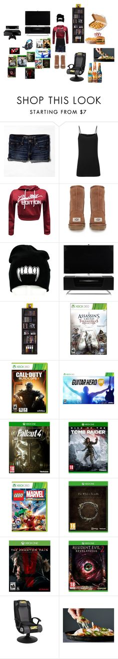 """""""Gamer Girl"""" by yummymummy-2014 ❤ liked on Polyvore featuring American Eagle Outfitters, Joseph, UGG Australia, Alphason, Atlantic, Microsoft, women's clothing, women, female and woman"""