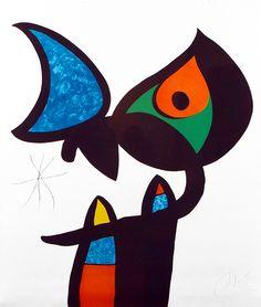 Miro Hand Signed Color Aquatint | Plate VI from Espriu – Miro