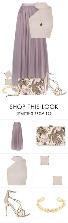 """Dusk #521"" by jaimeroo ❤ liked on Polyvore featuring Needle & Thread, New Look, Cushnie Et Ochs, Alanna Bess, Steve Madden, Jennifer Fisher and Accessorize"