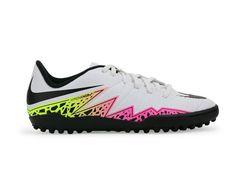Nike Kids Hypervenom Phelon Turf Soccer Shoes White/Black/Total Orange