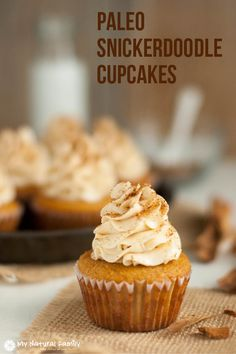 Snickerdoodle Paleo Cupcakes Recipe. Use coconut oil instead of butter (1/2 c) or use some applesauce to lower fat content. Use some coconut sugar (coconut sugar:honey = 2:1) instead of honey