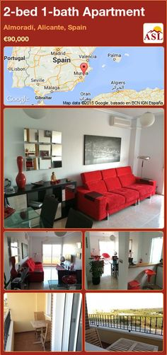 Apartment for Sale in Almoradí, Alicante, Spain with 2 bedrooms, 1 bathroom - A Spanish Life Apartments For Sale, Bright Apartment, Fitted Wardrobes, Alicante Spain, Murcia, Living Spaces, Lounge, Bathroom