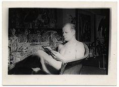 Citation: Jackson Pollock, 1943 / Reuben Kadish, photographer. Jackson Pollock and Lee Krasner papers, Archives of American Art, Smithsonian Institution.
