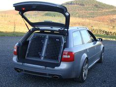 TransK9/B3 Audi RS6 Avant Dog Crate Dog Transit Box Dog Cage www.transk9.com