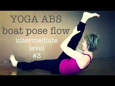 Yoga Pilates Inspired Abs Plank Boat Pose Flow | Intermidiate Level 3 - YouTube