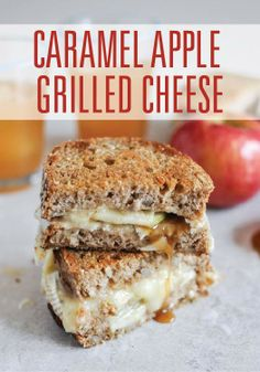 Incorporate fall into your sandwiches with this caramel apple grilled cheese.