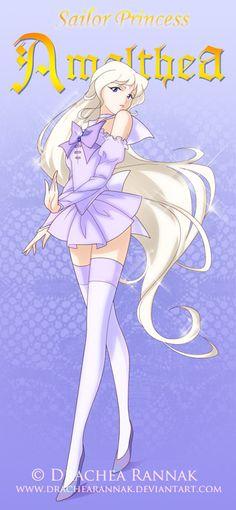Sailor Princess: Amalthea by Drachea Rannak. Fan-art from the movie 'The Last Unicorn'