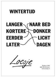 Wintertijd - Loesje