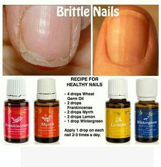 Recipe for healthy nails ~ Young Living Essential Oils ~ Therapeutic Grade Oils