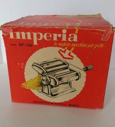 IMPERIA NOODLE CHEF PASTA MACHINE - vintage 8 thicknesses, hand operated, ITALY #Imperia