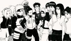 Naruto Uzumaki / rock lee / neji hyuga / tenten / hinta hyuga / kiba / shikamaru nara / choji / shino / ino / sakura haruno