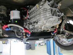 911 Design installed an external oil cooler and oil pump on a 2007 Porsche Cayman.