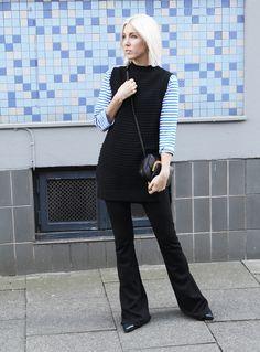 Pullunder, Flared, Streifen, Edited, Cos, Stella McCartney, vegan fashion, look, lotd, ootd, minimal, outfit, clean, Autumn, Fall, Fashion, Blog, stryletz