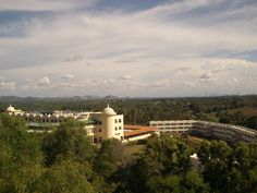 Aerial view of the Ashram