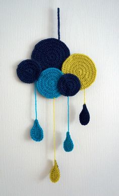 Captivating All About Crochet Ideas. Awe Inspiring All About Crochet Ideas. Art Au Crochet, Crochet Diy, Crochet Amigurumi, Crochet Home, Love Crochet, Crochet For Kids, Chat Crochet, Mobiles En Crochet, Crochet Mobile