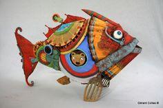 poisson assemblage,sculpture,gérartd collas